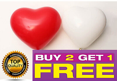 UK 25 PCS Heart Shaped BALLOONS LATEX Balloon VALENTINE Party Decor 10