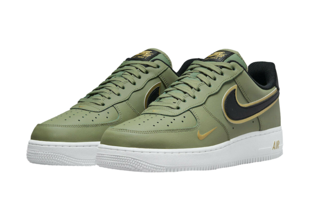 Nike Air Force 1 Lv8 Oil Green Black Gold Sneaker