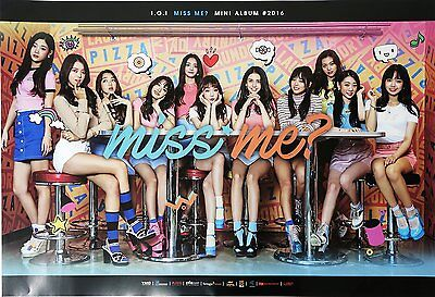 I.O.I IOI - Miss Me? (2nd Mini Album) OFFICIAL POSTER with Tube Case