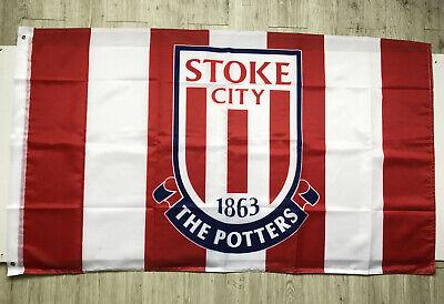 Stoke City 3X5FT Flag  England British UK Premier Football Soccer 2Grommets/429 Stoke City Football
