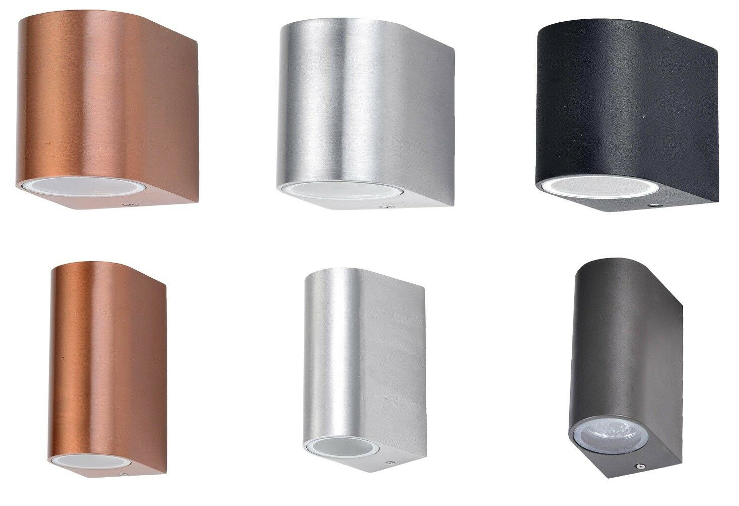 Design Haus Wand Außen Leuchte Fassaden Lampe Strahler Weg Beleuchtung ALU