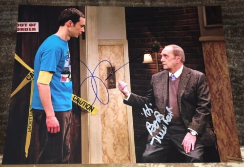JIM PARSONS & BOB NEWHART SIGNED THE BIG BANG THEORY 11x14 PHOTO w/EXACT PROOF
