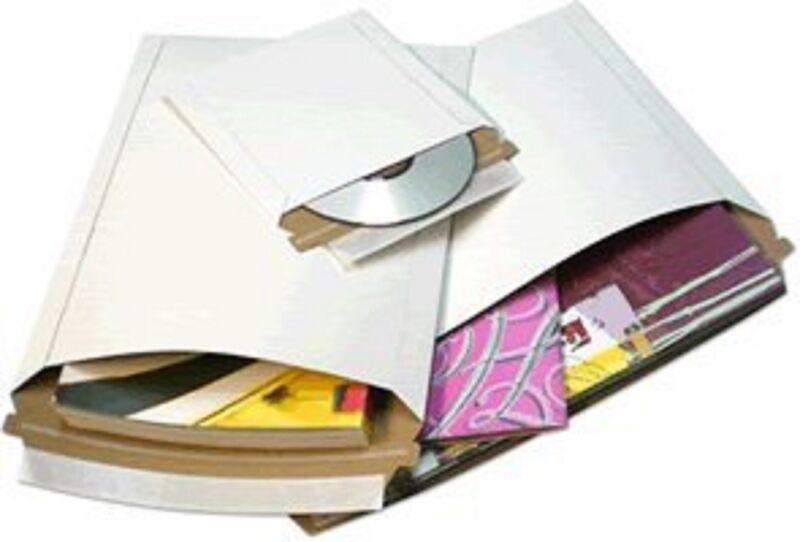 200 Pcs 6 X 8 White Cardboard Mailers Self Seal Adhesive Flap Photo & Document