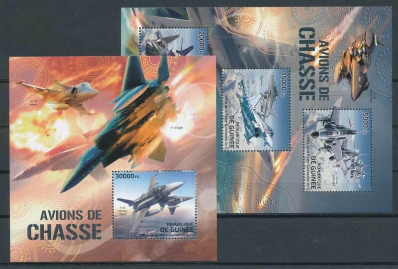 263352) Guinea Klbg. Nr.9292-4+Block 2112** Flugzeuge