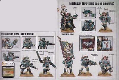 GW 40k Militarum Tempestus Scions Command (x 5) and Squad (x 5)  NOS  Free Ship
