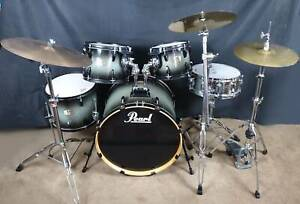 Pearl Export ELX Grey Fade lacquered 5pce Drum Kit