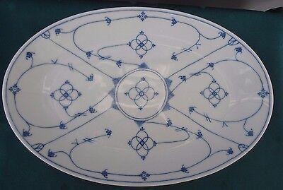 Servierplatte oval 32 x 21 cm indisch blau WINTERLING Schwarzenbach Platte
