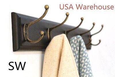 - SW Coat Hanger Clothes Towel Robe Hat Racks Home Kitchen Wall Mount Hooks USA