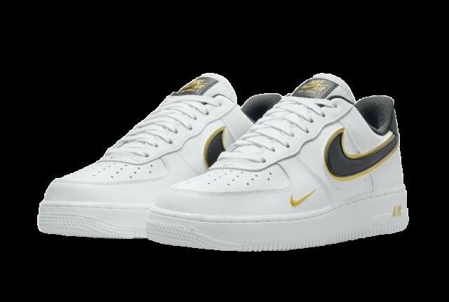 Nike Air Force 1 Lv8 White Metallic Gold Sneaker