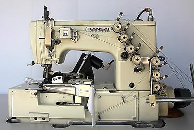 Kansai Special W8102is 3-needle 5-th Picot Coverstitch Industrial Sewing Machine