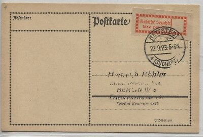 Gebührenzettel OPD Halle (Saale) 1 I e blanco Karte Hettstedt - Berlin (B07895)