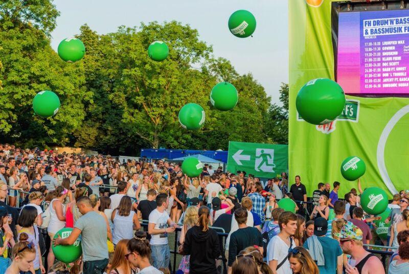 Spaß mit Beats und Bällen im Dortmunder Westfalenpark.
