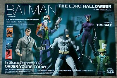 Long Halloween Two Face (Batman Long Halloween 2005 Two Face Joker Catwoman Mad Hatter DC PROMO Poster)
