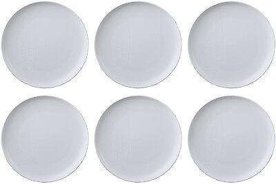 QUEENS JAMIE OLIVER WHITE 6 x DINNER PLATES (PUKKA) 27cm - BRAND NEW/UNUSED