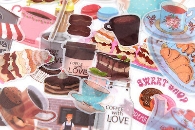 60 pieces sweets foodie coffee washi stickers for kids craft scrapbook - Sweets For Kids