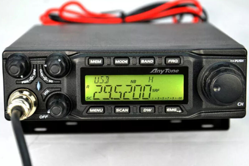 Anytone AT 6666 10 Meter AM FM USB LSB With HYS TC300 HF Amplifier W/CTCS BOARD