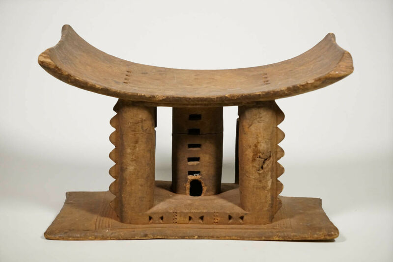 "Authentic Asante Stool 14.5"" - Ghana - African Art"