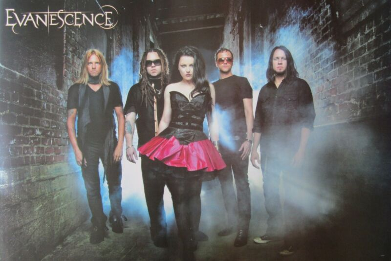 """EVANESCENCE """"GROUP STANDING IN SMOKEY ALLEY"""" POSTER FROM ASIA"""