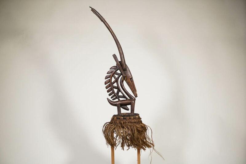 """Bamana Chiwara Head-Crest 30.5"""" - Mali - African Art"""