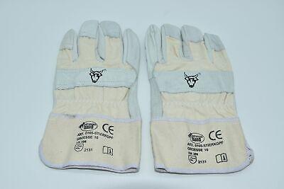 Strong Hand Schutzhandschuh Gr. 10 / XL Rindvollleder EN 388 Kat. 2 Handschuh