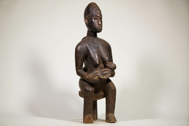 """Beautiful West African Maternity Statue 30.5"""" - African Art"""