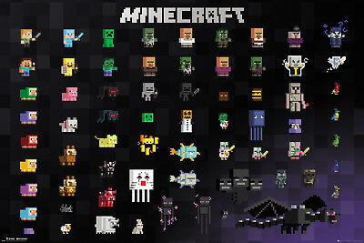 Poster MINECRAFT - Pixel Sprites (Game) 91,5x61cm NEU 59020