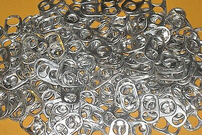 1000 Aluminum Pull Tabs POP COKE BEER TABS TOPS ALUMINUM CAN CHARITY ARTS & CRAF
