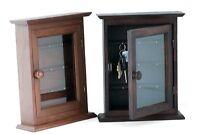 Vintage Style Wall Mounted Key Rack Cabinet. Handmade From Teak Wood. 2 Colours - handmade - ebay.co.uk