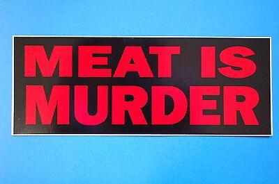 Smiths Meat Is Murder Sticker Decal (S40) Morrissey Vegetarian Vegan car Bumper