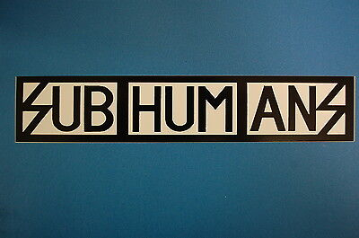 Subhumans Sticker (S147)