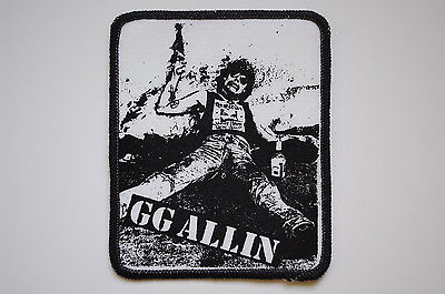 GG Allin Sewn Patch (SP1052) Punk Rock Misfits Adicts Clash Bad Brains Conflict