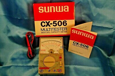 Sunwa Analog Cx-506 Multimeter Acdc Multitester-voltsohm Nib Clearance Price