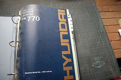 Hyundai Hl770 Front End Wheel Loader Repair Shop Service Manual Book Overhaul Sn