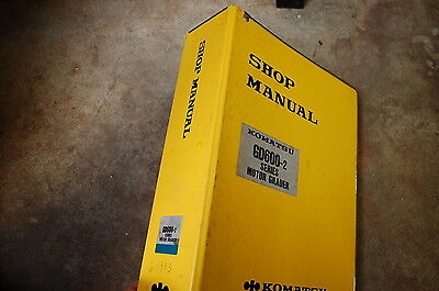 Komatsu Gd600 Gd650 Gd605 655 Motor Grader Service Manual Book Repair Shop Road