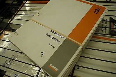 Case 760 Trencher Parts Manual Book Catalog Spare Tractor Ditcher Plow Ride-on