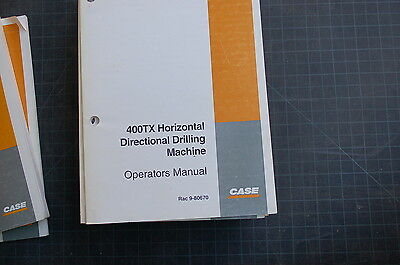 Case 400xt Horizontal Directional Drill Machine Operator Maintenance Manual Book