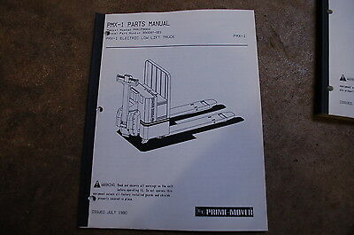 Bt Prime Mover Pmx-1 Electric Pallet Truck Jack Parts Manual Catalog Book 1990