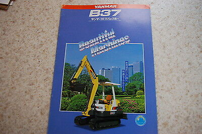 Yanmar B37 Mini Excavator Dealer Sales Brochure Japanese Catalog Vintage Crawler