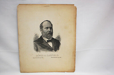 James A. Garfield, U.S. 20th President Vintage Black & White Picture (#S8420)