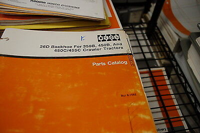 Case 26d Backhoe For 350b 450b 450c 455c Tractor Crawler Parts Manual Book 1988