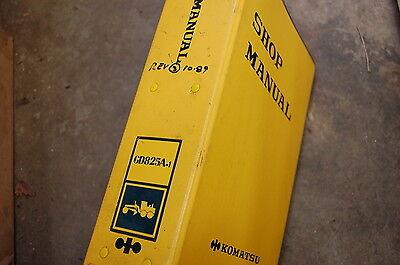 Komatsu Gd825a 1 Excavator Trackhoe Crawler Service Repair Manual Book Shop 1989