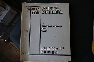 Hyster D6e W6e Towing Winch Parts Manual Book Catalog Cat Tractor Dozer Crawler