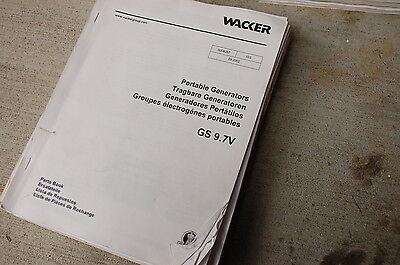 Wacker Gs 9.7v Portable Generator Parts Manual Book List Catalog Spare 2002 Shop