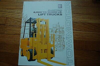 Caterpillar Towmotor 600-10000 Lbs Electric Forklift Sale Brochure Book Guide