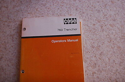 Case 760 Riding Trencher Owner Operator Maintenance Manual Book Operation Guide