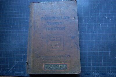 Cat Caterpillar Thirty 30 Tractor Dozer Crawler Part Manual Book Antique Rare