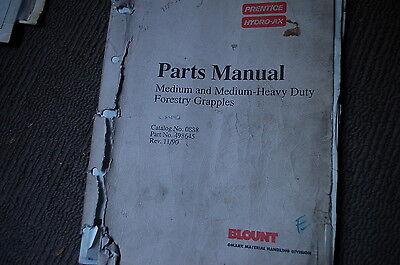 Prentice Medium Heavy Duty Log Loader Forestry Grapple Parts Manual Book Spare