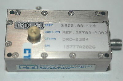 Cti Dro-2304 2.8ghz Rf-oscillator Precision Machined Sma Output Connector Qty1