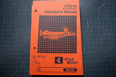 Ditch Witch Jt510 Directional Drill Operation Owner Manual Book Operator Shop