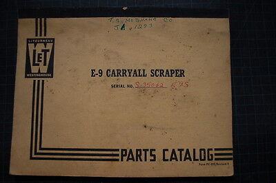 Letourneau Westinghouse Model E9 Carryall Scraper Parts Manual Book 1953 Spare